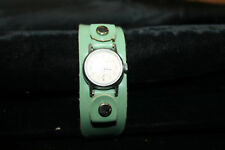Vintage Snow White Childs Wind Up Wristwatch US TIME Green Band Mod 1950's