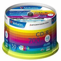 Mitsubishi Kagaku Media Verbatim Cd-r 700mb 1 Times Recording 48x Spindle Pack of 50 Case Record Label Design Sr80ph50v1