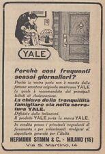 Z2789 Serrature YALE - Pubblicità d'epoca - 1923 vintage advertising