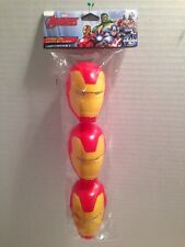 Marvel IronMan Figural Character Easter Eggs Treat Container Refillable 3 Pcs