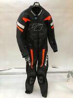 Spada Curve Evo 1 Piece Leather Motorcycle Race Suit Black / orange LARGE 44