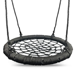 Kids Rope Swing Round Outdoor Birds Crows Nest Spider Web Swing Seat 65cm
