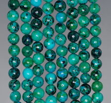 """6MM TURQUOISE CHRYSCOLLA GEMSTONE ROUND 6MM LOOSE BEADS 15.5"""""""