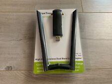 BrosTrend AC3 High Gain Dual Band AC1200 USB Wireless Network WiFi Adapter