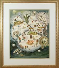 Original Russian Watercolor Painting on Paper Signed Dated 1994