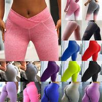 Women PUSH UP Yoga Leggings Fitness High Waist Gym Sports Pants Running Fashion