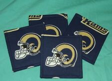 NEW LOS ANGELES RAMS FOOTBALL LA NFL TEAM   Drink COASTERS SET OF 4