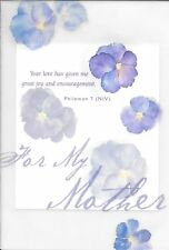 Happy Birthday For My Mother Purple Pansy Pansies Encouragement Hallmark Card