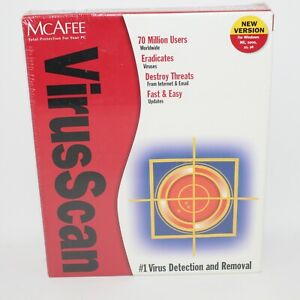 McAfee Virus Scan For Win 95, NT, 3.1x, DOS, & OS/2 NEW and SEALED