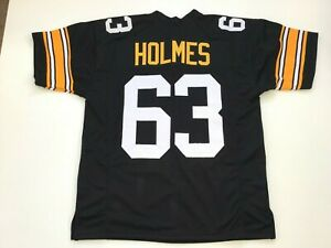 UNSIGNED CUSTOM Sewn Stitched Ernie Holmes Black Jersey  M, L, XL, 2XL