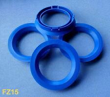 (FZ15) 4 Stück  Zentrierringe 74,1 / 57,1 mm blau für Alufelgen
