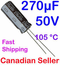 2pcs 270uF 50V 10x25mm 105C Nichicon PW Low impedance For PC TV PS LCD AUDIO DVD
