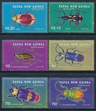 2005 PAPUA NEW GUINEA BEETLES SET OF 6 FINE MINT MNH