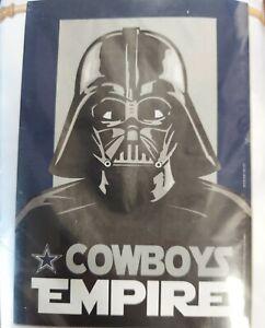 Dallas Cowboys Star Wars Empire Flag - Darth Vader - Indoor Outdoor - New