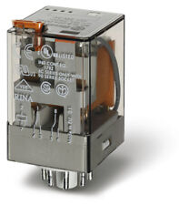 FINDER 2C/O General Purpose Relay inc Base 8PIN 24VAC LED/LATCH/TEST 10A 2pole