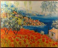 """GICLEE ON CANVAS """"POPPIES DREAM"""" BY DUAIV ARTIST PROOF AP 16/25 ARTIST SIGNED"""