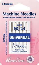 Size 90/14 Sewing Machine Needle - Klasse Universal Needles - Pack 5