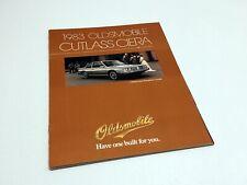 1983 Oldsmobile Cutlass Ciera Brochure