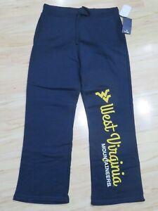 New Women's NCAA Fanatics West Virginia Mountaineers Navy Blue Sweatpants 2XL