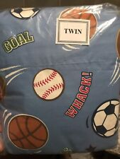 Circo TWIN Sports Soccer Basketball Sheet Set Fitted Flat Pillowcase 3 pc