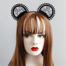 Lace Cats Ears Black Headbands Bunny Ears Haloween Fancy Dress Hen Party