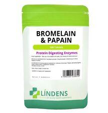 Bromelain & Papain 2 PACK 200 Tablets 10/100 Protein Digesting Digestive Enzymes