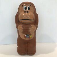 "1981 Donkey Kong Blow Mold Bank with Sticker Cut 11"" A.J. Renzi Nintendo No.30"