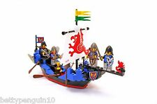 Lego 6057 Black Knights Castle Sea Serpent Ship, 5 Knight Minifigures, Complete*