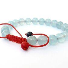 8mm Blue Jade Tibet Buddhist Prayer Beads Mala Bracelet