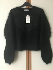 ZARA Black Mohair Sweater Jumper Size M 10