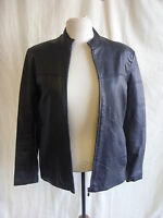 Ladies Coat - Parisian Works, size S (comes big), black, 100% leather, zip 7167