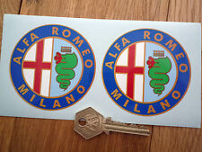 ALFA ROMEO MILANO 75mm classic racing car stickers