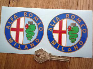 ALFA ROMEO MILANO 75mm classic racing car stickers
