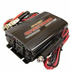 BOOST 400 w 1000 WATT peak PORTABLE 12 v DC TO 110 120 volt AC POWER inverter
