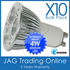 10 x 240V 4W 3*1W EDISON LED GU10 COOL WHITE DOWNLIGHT BULBS/ DOWN LIGHT GLOBES