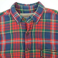 Vtg Abercrombie & Fitch Flannel Work Shirt Mens MEDIUM Mountain Twill Plaid