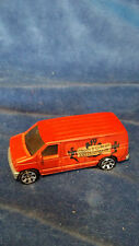 1999 MATCHBOX  FORD PANEL VAN Ghost and Goblin Exterminators - Orange 1:80 scale