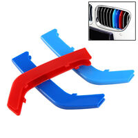 M Color ABS Kidney Grill Bar Grille Covers Decal Strip Clip For MW 3 Series F30