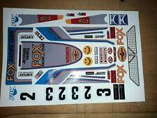 FOX Azul Personalizado TAMIYA HPI LOSI RC 1/10th Plus Pegatinas etiquetas adicionales