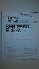 Pioneer keh-p580 p5800 p5850 service manual original book stereo car radio tape