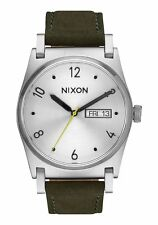 NWT Nixon Jane Leather Watch Silver Surplus Womens aa13
