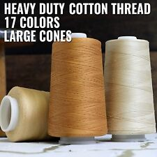 HUGE SPOOLS HEAVY DUTY COTTON THREAD QUILTING SERGER SEWING 40/3 17 COLORS