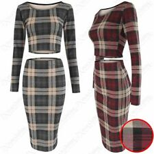 Polyester Checked Stretch, Bodycon Skirts for Women