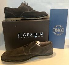 Florsheim Sentinel Brown Suede Leather Bio Comfort Shoes Size 10 D