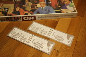 Clue 1986 Board Game Replacement Pieces Detective Pad Notebook Pages