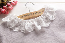 Fashion Women Choker Necklace Peter Pan Detachable Lapel Shirt Fake False Collar