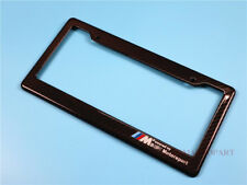 For BMW Motorsport Car Only License Plate Frames Genuine Real Carbon Fiber