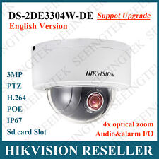 Hikvision DS-2DE3304W-DE 3MP Network P&P Mini PTZ Dome Camera IP66 4X Zoom POE