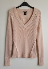 CALVIN KLEIN LADIES PALE PEACH RIBBED JUMPER SIZE L UK 10-12?