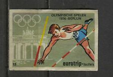 Olympic Games 1936 Berlin Vintage Matchbox Label No.13